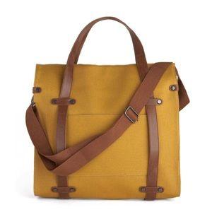Mustard canvas Messenger Bag
